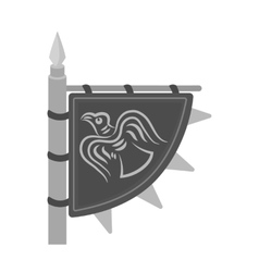 Viking s flag icon in monochrome style isolated on vector image