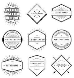 Vintage Brand Badges Collection vector