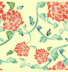 Watercoloured flowers and leaves vector