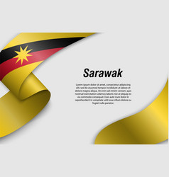 Waving ribbon or banner with flag state of vector