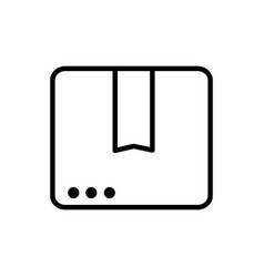 website order service delivery icon thick line vector image