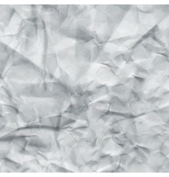 White Crumpled Paper Texture vector image