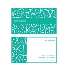 White on green alphabet letters horizontal stripe vector