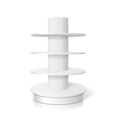 White round pos shelf for supermarket displays vector