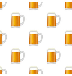 beer cup glass mug seamless pattern vector image