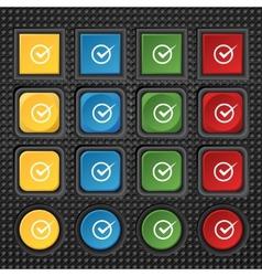 Check mark sign icon Checkbox button Set colur vector image vector image