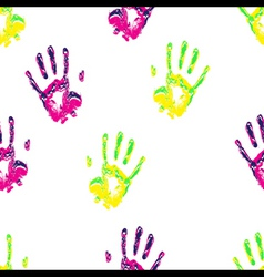 hands repeatable pattern vector image vector image