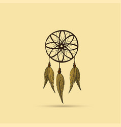 native american indian dreamcatcher vector image