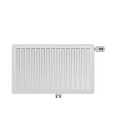 Realistic steel panel radiator electronic a vector
