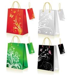set of shopping bag vector image vector image