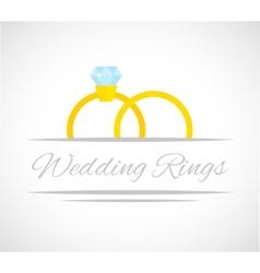 Wedding rings card vector image