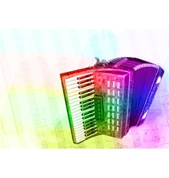 Accordion Iridescen colours vector image vector image