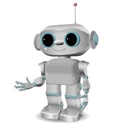 cheerful plastic robot vector image vector image