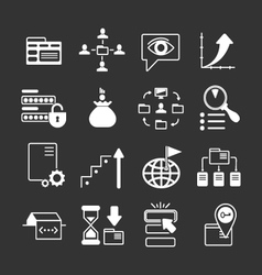 Set icons of SEO web and internet vector image