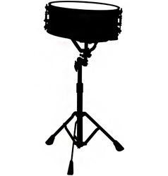 snare drum silhouette vector image