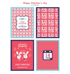 Valentines Day background for invitation card vector image vector image