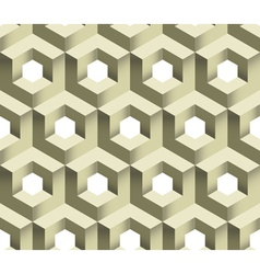 3d Cube Logo Icon Seamless Pattern Background vector image