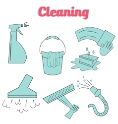 Cleaning icons flat modern style icon vector image