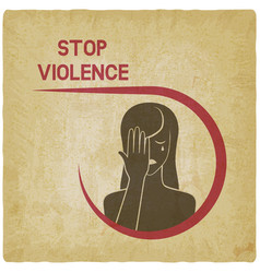 crying woman stop violence concept vector image