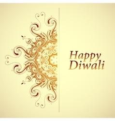 Happy Diwali greeting card vector image vector image