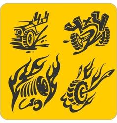 Off-Road symbols - set vector image vector image