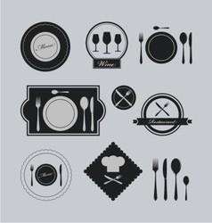 restaurants vintage logo vector image vector image