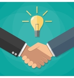 Two businessmen shake hands for a deal vector image vector image