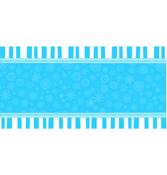 Winter banner with space for text vector