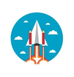 464paper plane with pencil icon vector image vector image