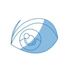 cartoon eye expression cartoon design vector image
