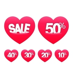 Valentines Day Sale Stickers vector image