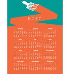 2017 creative painting calendar vector image