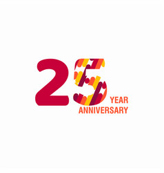 25 year anniversary purple template design vector