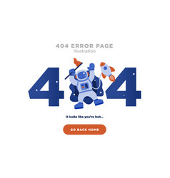 404 error page not found design with astronaut vector