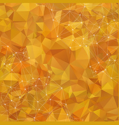 abstract low poly yellow technology background vector image