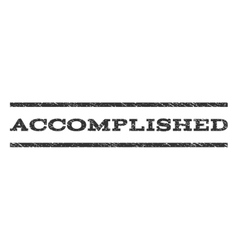 Accomplished Watermark Stamp vector image
