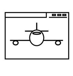 aeroplane website icon vector image