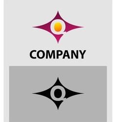 Alphabet icon Q logo vector
