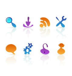 Amoeba icons vector