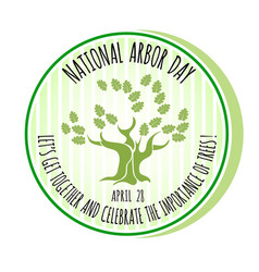 Arbor day icon oak tree vector