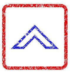 Arrowhead up grunge framed icon vector