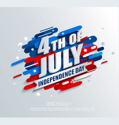 Banner for independence day of the usa vector