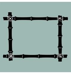 Black bamboo frame background vector