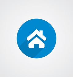 Blue flat Home Icon vector