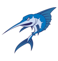 Blue marlin mascot vector