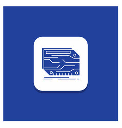 blue round button for card component custom vector image