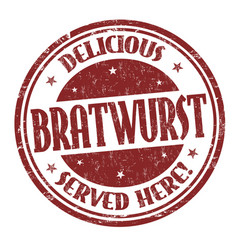 bratwurst sign or stamp vector image