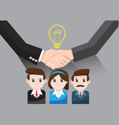 business idea for teamwork success vector image