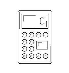 calculator for count line icon vector image