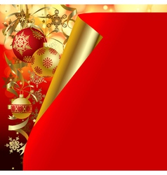 Christmas and New-Years greeting card vector
